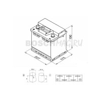 Аккумулятор BOSCH S3 003 0092S30030 45 Ач (A/h) прямая полярность - 545413040