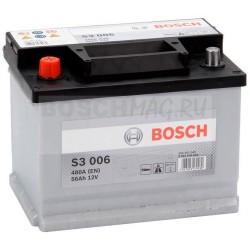 Автомобильный аккумулятор BOSCH S3 006   0092S30060  56 Ач (A/h)  прямая полярность  -  556401048