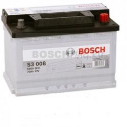 Автомобильный аккумулятор BOSCH S3 008   0092S30080  70 Ач (A/h)  обратная полярность  -  570409064