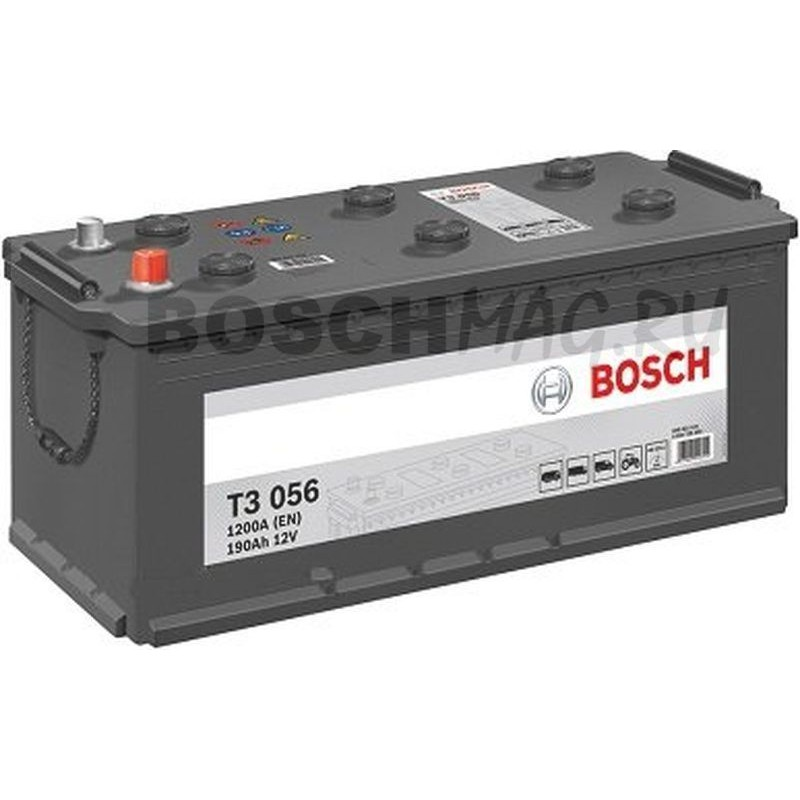 Аккумулятор BOSCH Т3 056 0092Т30560 190 Ач (A/h) прямая полярность Специально для КАМАЗ
