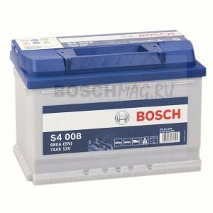 Автомобильный аккумулятор BOSCH S4 008   0092S40080  74 Ач (A/h)  обратная полярность  -  574012068