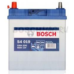 Автомобильный аккумулятор BOSCH S4 019   0092S40190  40 Ач (A/h)  прямая полярность  -  540127033