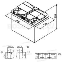 Аккумулятор BOSCH S4 024 0092S40240 60 Ач (A/h) обратная полярность - 560410054