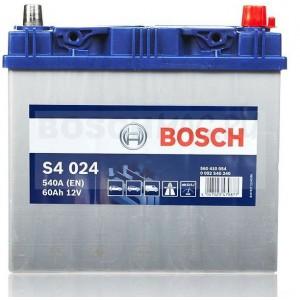 Автомобильный аккумулятор BOSCH S4 024   0092S40240  60 Ач (A/h)  обратная полярность  -  560410054