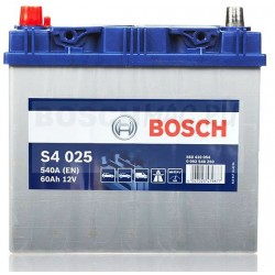 Автомобильный аккумулятор BOSCH S4 025   0092S40250  60 Ач (A/h)  прямая полярность  -  560411054