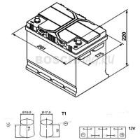 Аккумулятор BOSCH S4 026 0092S40260 70 Ач (A/h) обратная полярность - 570412063