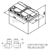 Аккумулятор BOSCH S4 029 0092S40290 95 Ач (A/h) прямая полярность - 595405083