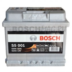 Автомобильный аккумулятор BOSCH S5 001   0092S50010  52 Ач (A/h)  обратная полярность  -  552401052