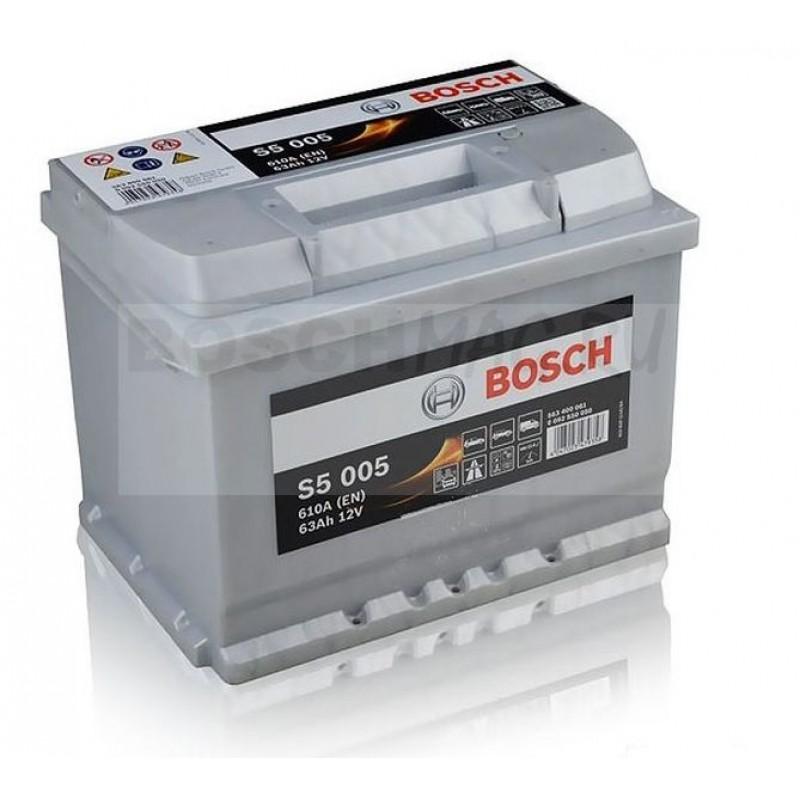 Аккумулятор BOSCH S5 005 0092S50050 63 Ач (A/h) обратная полярность - 563400061