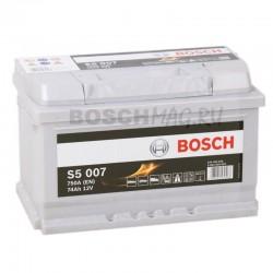 Автомобильный аккумулятор BOSCH S5 007   0092S50070  74 Ач (A/h)  обратная полярность  -  574402075