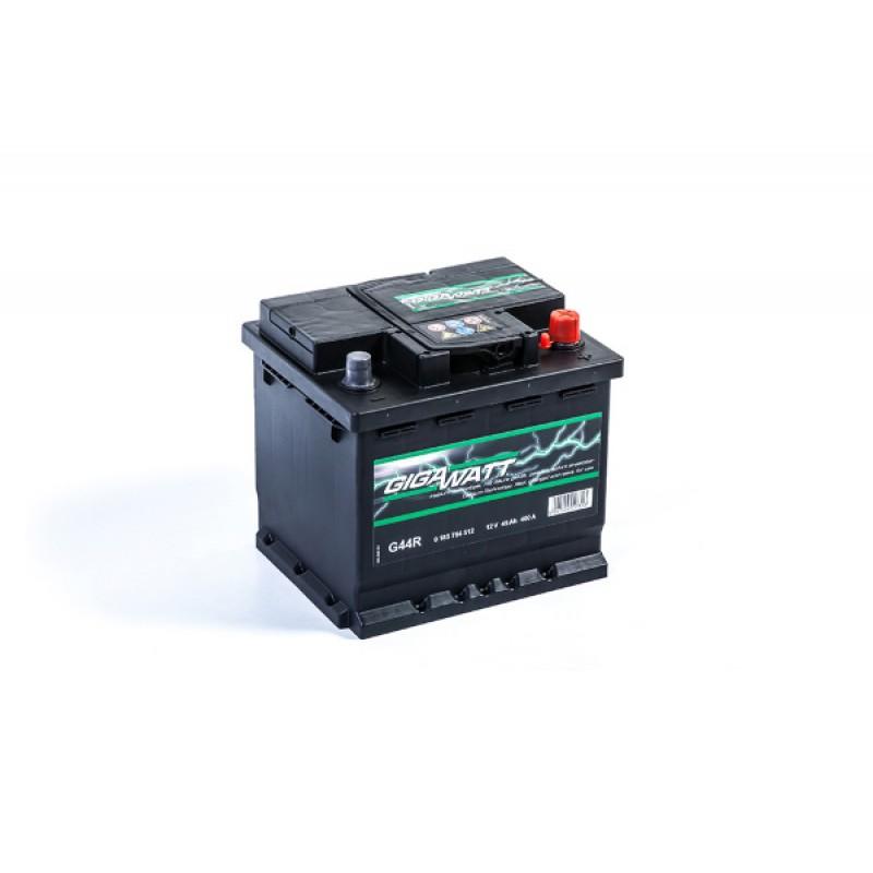 Автомобильный аккумулятор GIGAWATT G44R 545412040- 45Ач  обратная полярность