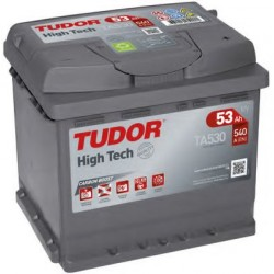 Автомобильный аккумулятор TUDOR High-Tech TA530 53 Ач (A/h) обратная полярность