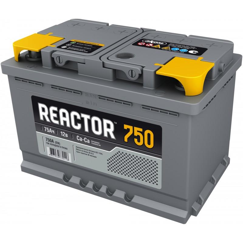 Аккумулятор REACTOR 6CT-75.1 прямая полярность